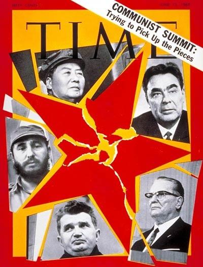 Comunismo, quién te ha visto quien te ve: Mao, Brezhnev, Tito, Ceausescu, Castro en la portada del Time Magazine, Junio 13, 1969  Foto: a-birdie